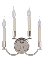 Craftmade 40464-PLN - Crescent 4 Light Wall Sconce in Polished Nickel